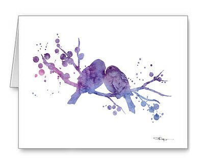 Love Birds Note Cards With Envelopes
