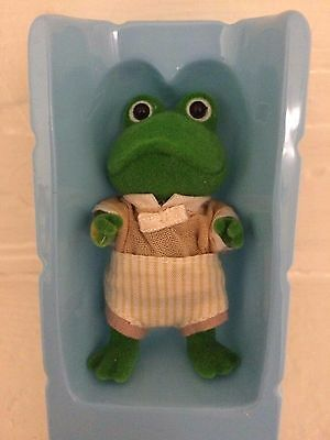 Sylvanian Families Collectible Rare Bullrush Frog Brother Algy in Original Box