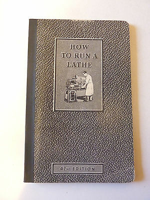 "1942 South Bend Lathe Works ""How To Run A Lathe"" Book, 42nd Edition, Nice Cond."