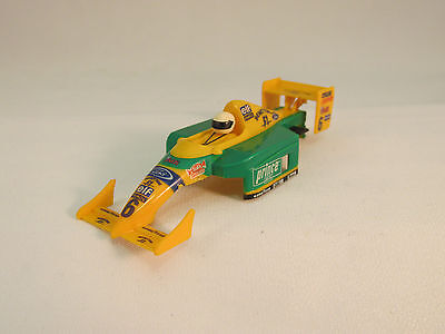 Tyco #9045 Green And Yellow #6 F-1 Benetton  Shell - Nice /very Nice Cond!