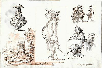 Old master drawing   Venetian school of the 18th century
