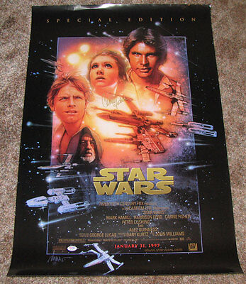 STAR WARS SPECIAL EDITION POSTER 24x36 SIGNED AUTOGRAPHED PSA DNA CARRIE FISHER