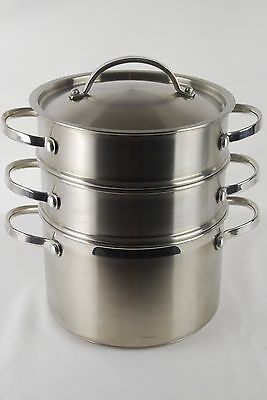 Marks and Spencer Stainless Steel 3-Tier Steamer 3.8 liters