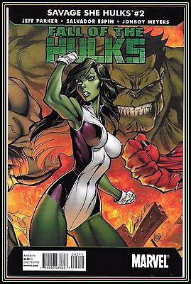 Fall of the Hulks: Savage She-Hulks #2 (2010) NM J Scott Campbell Cover Marvel