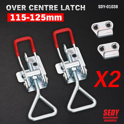 Over Centre Latch Medium 2Pcs Trailer Toggle Latch Fastener UTE 4WD 1038