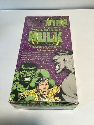 1991 Comic Images The Incredible Hulk Trading Cards 48 Pack Box 480 Cards In Box