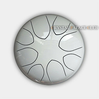 """10"""" Steel Tongue Drum/Tank Drum (Bag included)-C Major Natural Scale White"""
