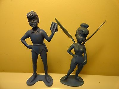 Marx Peter Pan and Tinker bell Plastic Figures Rare