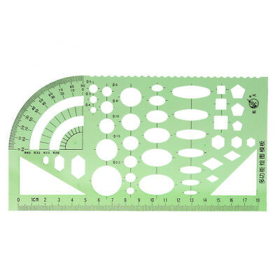 Multifunctional Plastic Drawing Curve Pattern Stencil Template Ruler Tool