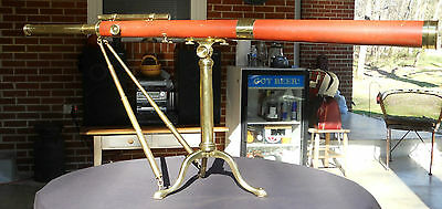 "Antique Dollond London C.1780s Wood & Brass Library Telescope Rare 2 3/4"" Lens"