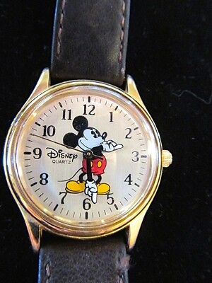 Vintage Mickey Mouse Watch- Disney Time Works-Great Condition- Runs Well!