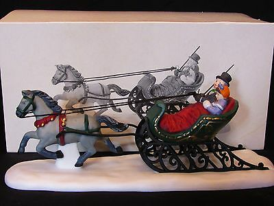 "Dept. 56 Heritage Village Collection ""Dashing Through the Snow"" Sled MIB #5820-3"