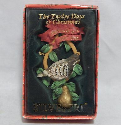 Silvestri Ornament Twelve Days of Christmas Partridge in a Pear Tree
