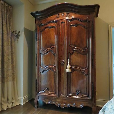 18Th Century Superior Antique Walnut French Armoire