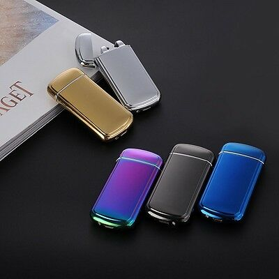 Windproof USB Rechargeable Flameless Electric Dual ARC PULSE Cigarette Lighter