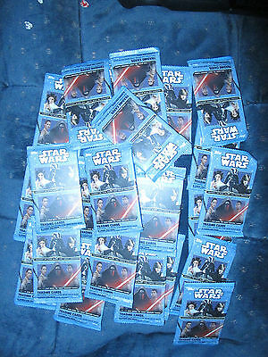 New (24) Topps Disney Journey To Star Wars The Force Awakens Trading Card Packs