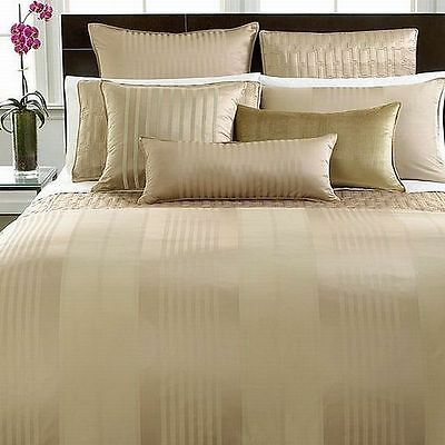 New Hotel Collection CLASSIC STRIPE Neutral Champagne Standard Pillow Sham