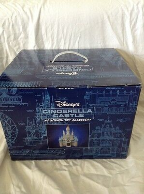 New In Box Disney World Parks Cinderella Castle Monorail Toy Accessory