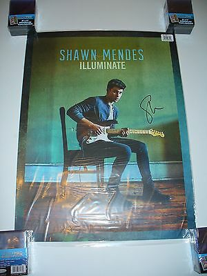 Shawn Mendes Signed Autographed Illuminate CD 18x24 Poster w/ PROOF - FREE S&H