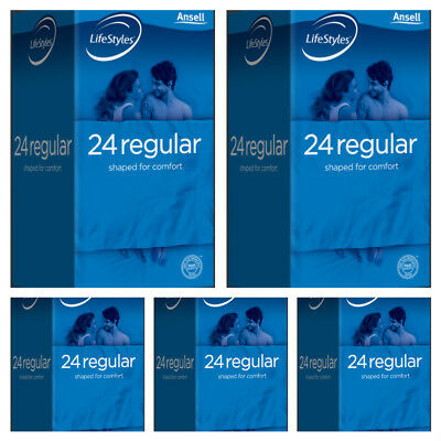 Ansell Life Styles Regular 24 Pack Easy Fit Condoms x 5 Packs Buy Deal