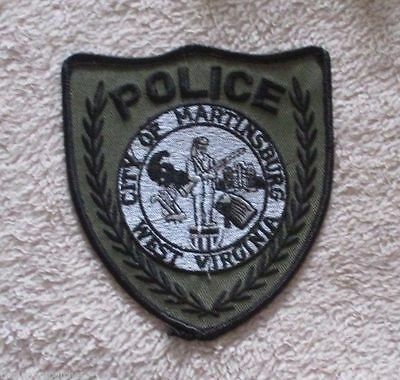 """Martinsburg Police Patch - subdued - West Virginia - 4"""" x 4 1/2"""""""
