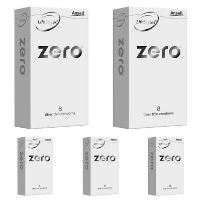 New Ansell Lifestyles Zero 8 Pack Uber-thin Condoms X 5 Buy Deal