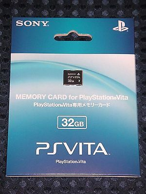 NEW SONY Official Authentic PS Vita 32GB Memory Card PSV JAPAN FS w/ Tracking no