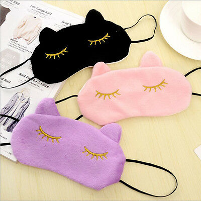 High 3D Soft Eye Sleep Mask Cute Cat Style Cover Rest Travel Relax Blindfold