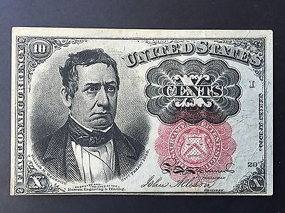United States America USA Ten 10 Cents P122 Fractional Currency Dated 1874 EF+