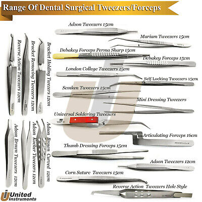 Orthodontic Bracket Holding Placing Forceps Surgical Cotton Dressing Tweezer Lab