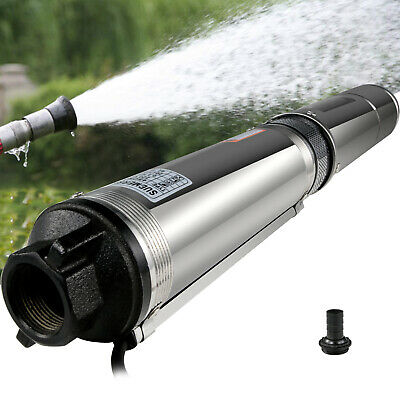 0.5HP Submersible Bore Water Pump Deep Well Irrigation Stainless Steel Electric