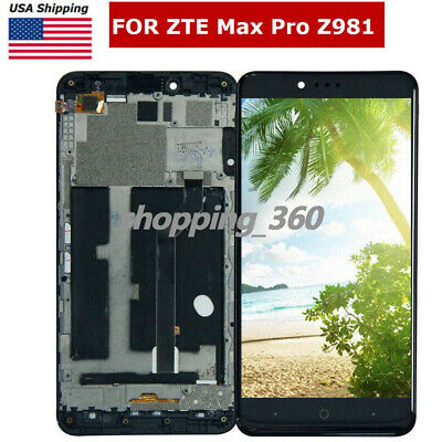 "OEM FOR ZTE Max Pro Z981 6"" 4G LTE metroPCS LCD Display+Touch Screen+Frame US"