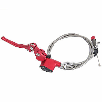 7/8 '' universal moto frein hydraulique embrayage levier cylindre 1200mm rouge*