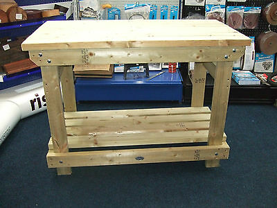 New hand made 4FT solid heavy duty, wooden work bench table