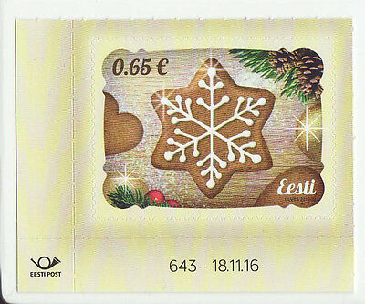 Estonia 2016 MNH - Christmas - Gingerbred - with smell of gingerbread