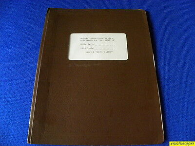 Sound Technology model 1000A /1100A Owner's Manual  & Service  Very rare