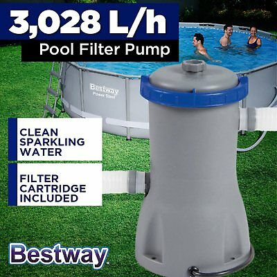 Bestway Flowclear 3028L Above Ground Swimming Pool Water Cleaner Filter Pump