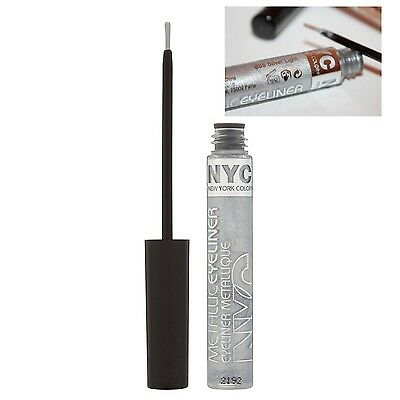 NYC Metallic Liquid Eyeliner (865 Silver Light) 7ml NEU&OVP