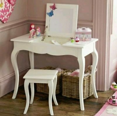 GLTC Girls Florence Dressing Table And Stool RRP £250 BRAND NEW BOXED IVORY