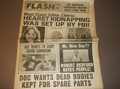 Vintage Tabloid CONFIDENTIAL FLASH Apr.30,1974/HEARST KIDNAPPING SET-UP/Redford