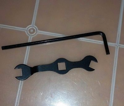 Lot of 2 Meccano Tools - Wrench and Allen Key.