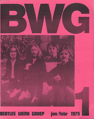 DUTCH MAGAZINE BEATLES WERK GROEP (BWG) 1975 nr. 01