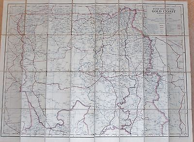 1949 Gold Coast Survey Department Road Map (Northern Section) Ghana Africa