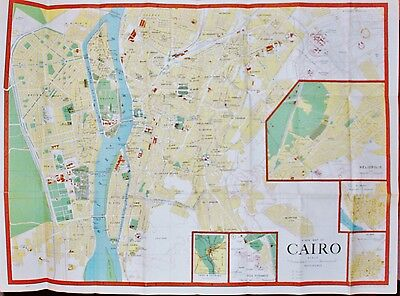 Cairo Drafting Office A New Map of Cairo United Arab Republic Egypt 1966 folding
