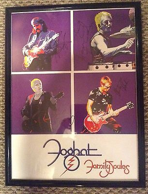 Foghat Family Joules 18X24 Autographed Framed Poster
