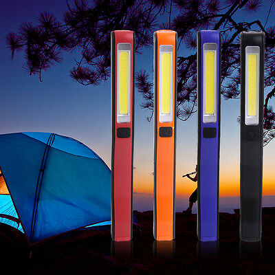 2 in 1 USB Rechargeable COB LED Camping Work Inspection Light Lamp Hand Torch WL