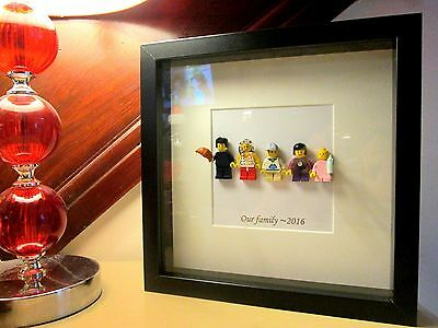 Personalised Lego Mini Figure Family Picture Frame