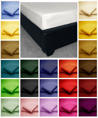 Cotton Blend FITTED BED SHEETS Non Iron - bunk, Single, 4ft, Double, Super King