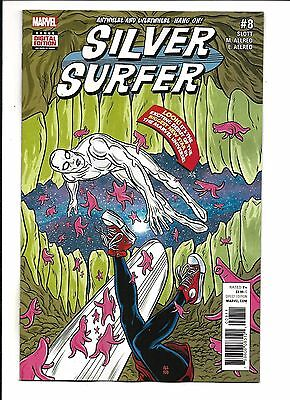 SILVER SURFER # 8 (FEB 2017), NM NEW (Bagged & Boarded)