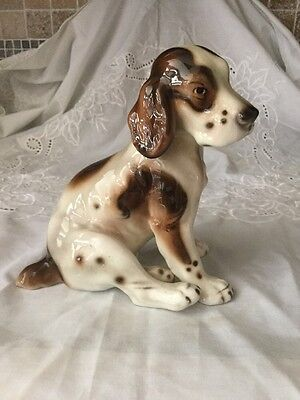 Vintage Keramos  Chocholka English Springer Spaniel Figurine Made In Austria **